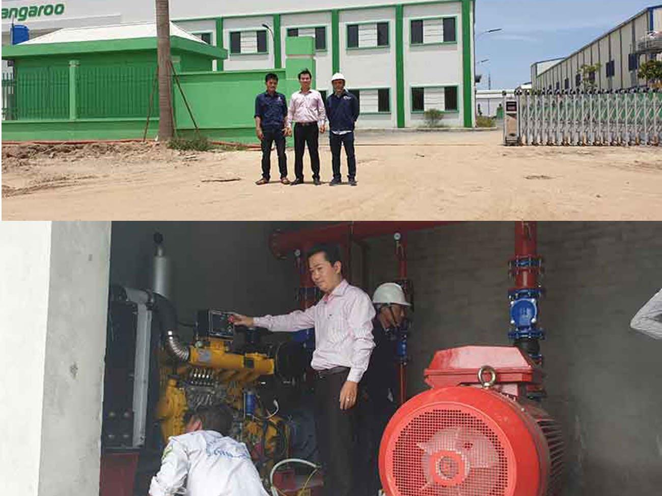 Cung cấp hệ thống chữa cháy, máy bơm chữa cháy cho nhà máy Kangaroo tại tỉnh Hưng Yên thumbnail